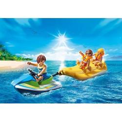Playmobil 6980 Vacanciers avec scooter des mers et banane