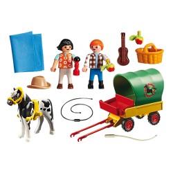 Playmobil 6948 Enfants avec chariot et poney