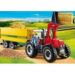PLAYMOBIL 70131 Grand tracteur avec remorque